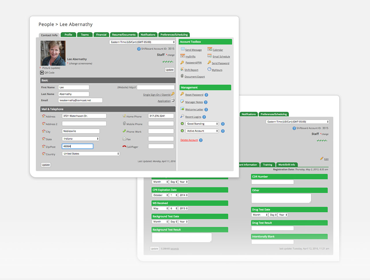 Applicant tracking for potential new employees