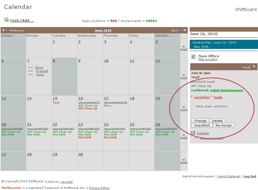 Shiftboard's restaurant scheduling software reports