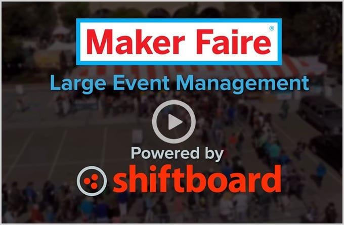 Event staff management software for Maker Faire
