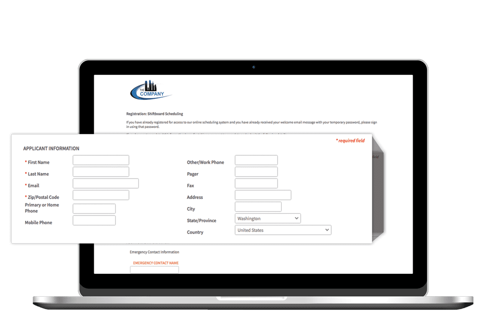 Applicant tracking system application forms