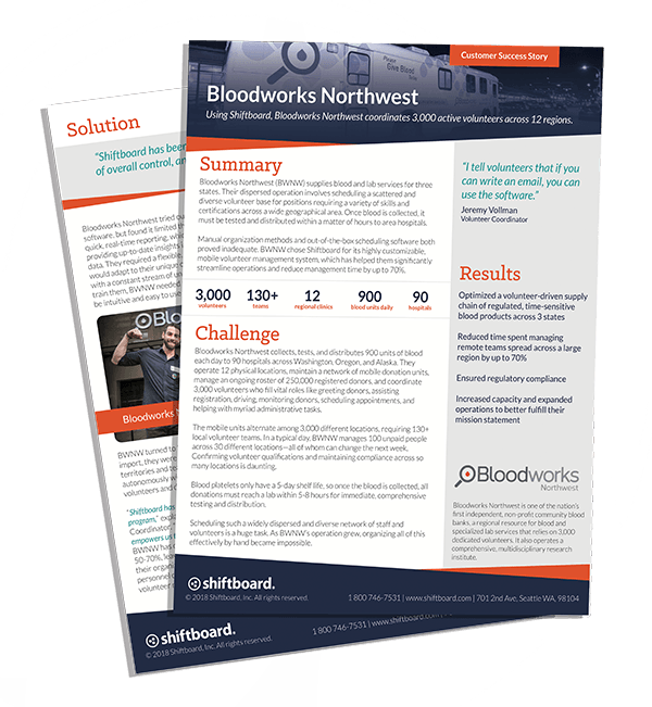 Bloodworks Northwest Case Study