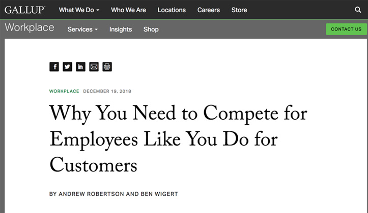 Compete for Employees Like You Do for Customers