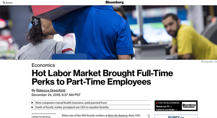 Companies Extending Benefits to Hourly and Part-Time Workers