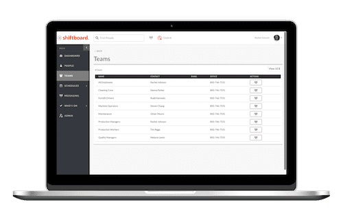 Build teams using Shiftboard's employee scheduling platform