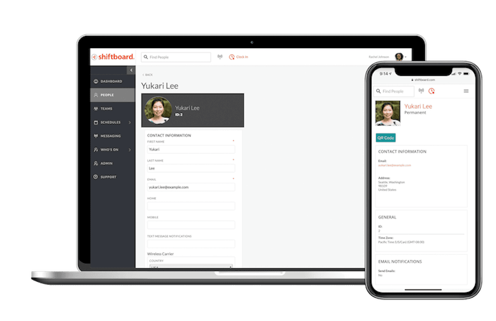 Shiftboard scheduling software includes worker profile information