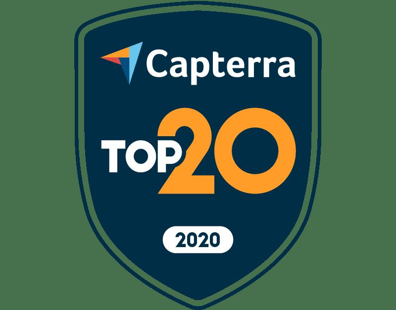 Capterra top 20 employee scheduling software badge